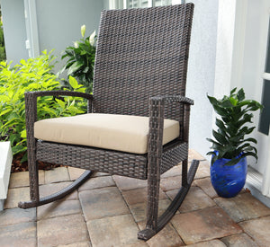 Outdoor Rocking Chair - PE Rattan