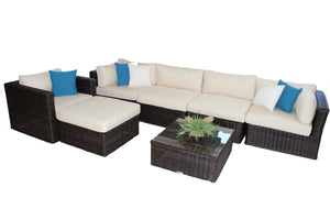 7-Piece Set with Ottoman & Table