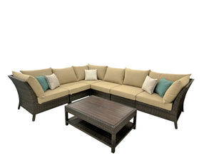 7 Piece High Back Modular Sectional