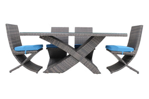Outdoor Furniture X-Table Patio Furniture Dining Table