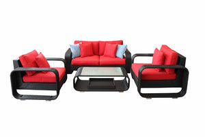 4 Piece Modern Loveseat Conversation Set