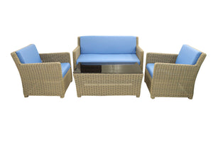 4 Piece Set w/ Leather Cushions