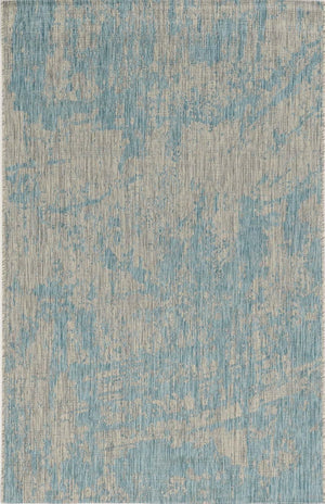 Outdoor Rug - Brushed Aqua