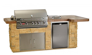 Outdoor Kitchen Gas Grill with Refrigerator