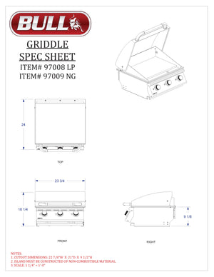 Bull Commercial Griddle Head