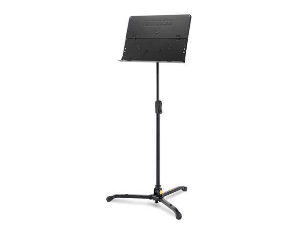 Hercules Orchestra Music Stand - Foldable Desk w/ Instrument Peg Holes