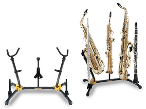 Hercules Dual Saxophone / Flute / Clarinet Stand