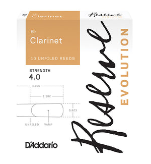 D'Addario Reserve Evolution Reeds Bb Clarinet - Box of 10