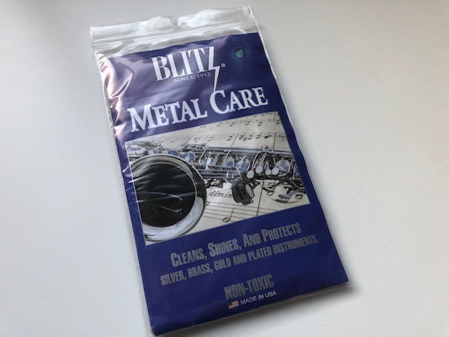 Blitz Polishing Cloth for Gold, Silver and Plated Metal Instruments