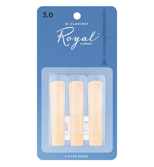 Rico Royal Reeds Bb Clarinet - 3 pack