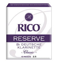 Rico Reserve Classic Reeds German Bb Clarinet - Box of 10