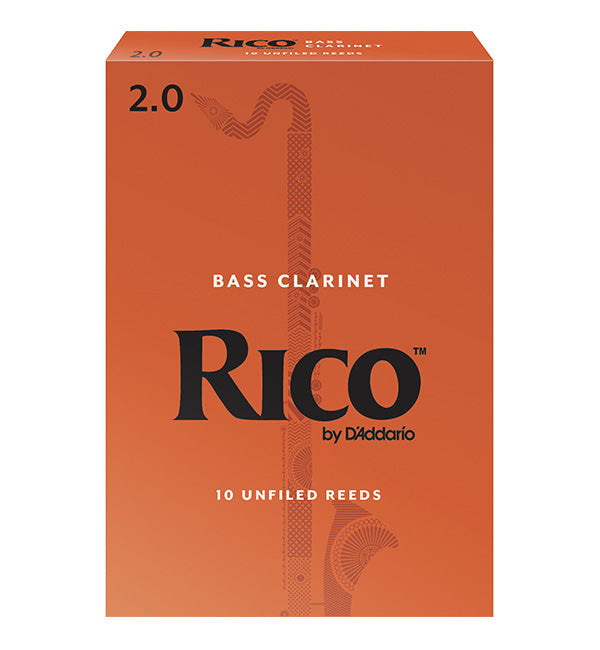 Rico Orange Box Reeds Bass Clarinet - Box of 10