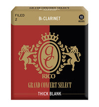 Grand Concert Select Thick Blank Reeds Bb Clarinet - Box of 10