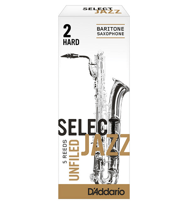 D'Addario Select Jazz Unfiled Reeds Baritone Saxophone - Box of 5