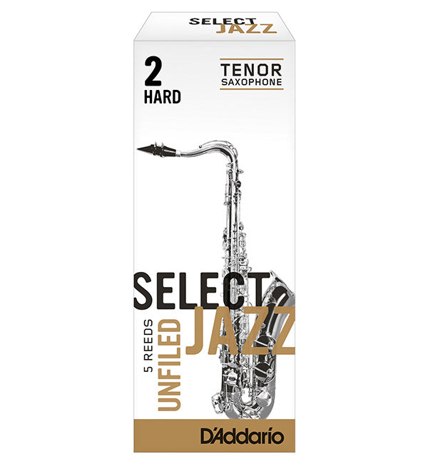 D'Addario Select Jazz Unfiled Reeds Tenor Saxophone - Box of 5