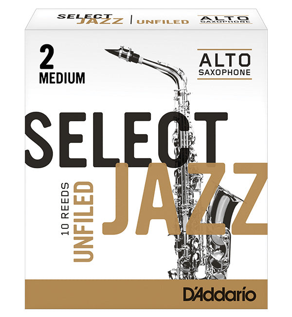 D'Addario Select Jazz Unfiled Reeds Alto Saxophone - Box of 10