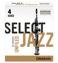 D'Addario Select Jazz Unfiled Reeds Soprano Saxophone - Box of 10