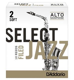 D'Addario Select Jazz Filed Reeds Alto Saxophone - Box of 10
