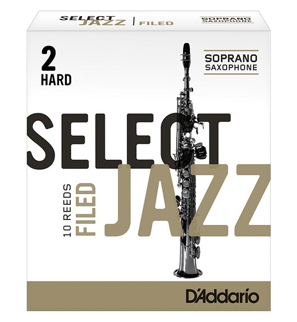 D'Addario Select Jazz Filed Reeds Soprano Saxophone - Box of 10