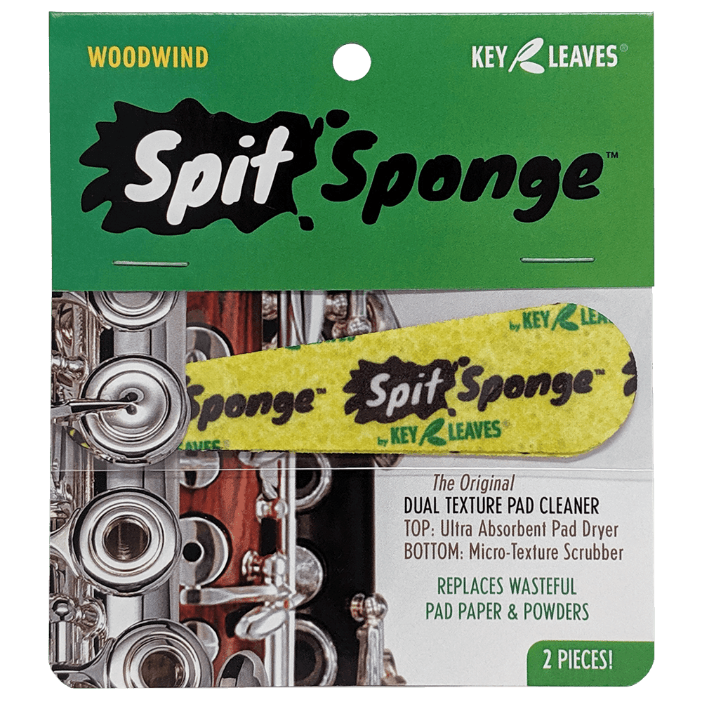 Key Leaves Spit Sponge - Woodwind Pad Dryer for Flute, Clarinet, Oboe and Bassoon