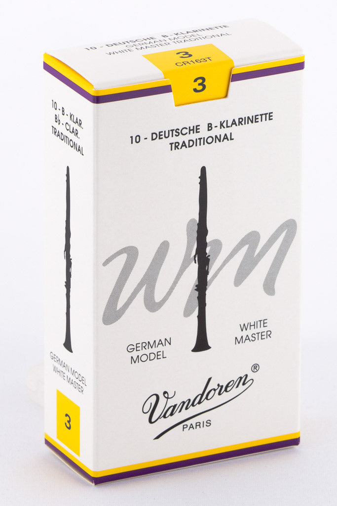 Vandoren White Masters Traditional Reeds Bb Clarinet - Box of 10
