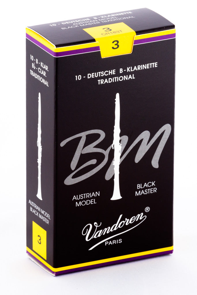 Vandoren Black Masters Traditional Reeds Bb Clarinet - Box of 10
