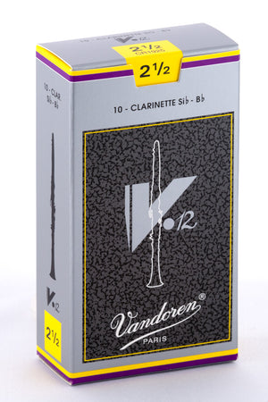 Vandoren V12 Reeds Bb Clarinet - Box of 10