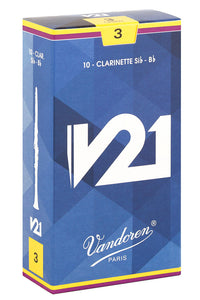 Vandoren V21 Reeds Bb Clarinet - Box of 10