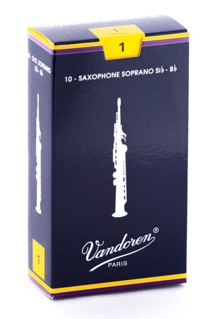 Vandoren Traditional Reeds Soprano Saxophone - Box of 10
