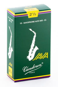 Vandoren JAVA Reeds Alto Saxophone - Box of 10