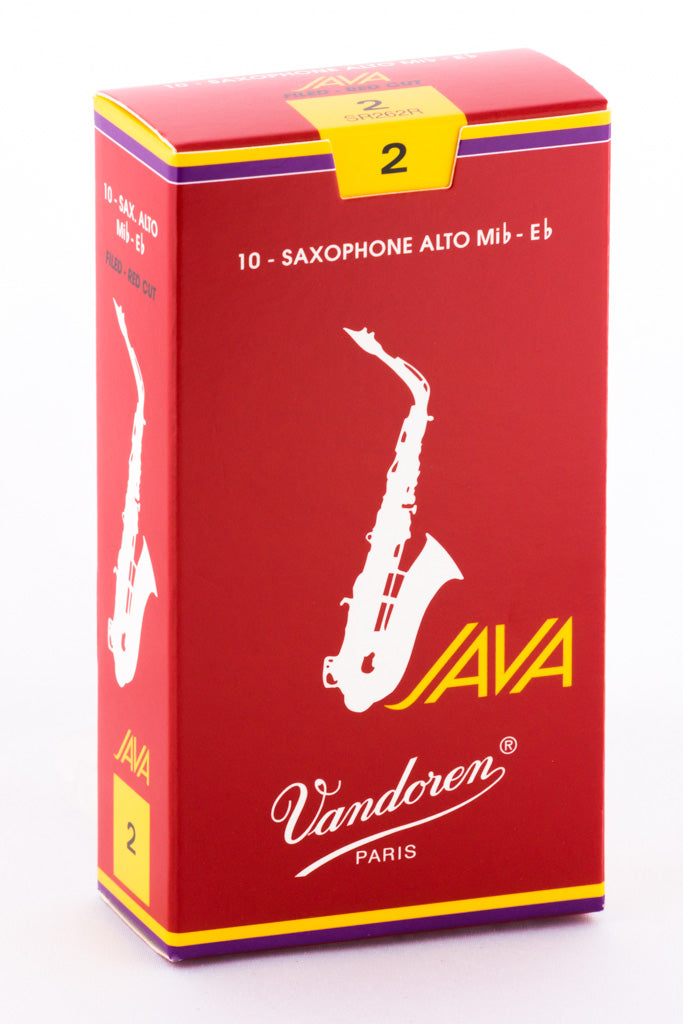 Vandoren JAVA RED Reeds Alto Saxophone - Box of 10