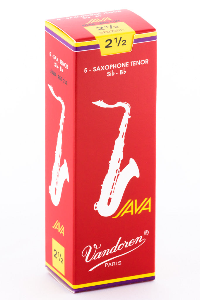Vandoren JAVA RED Reeds Tenor Saxophone - Box of 5