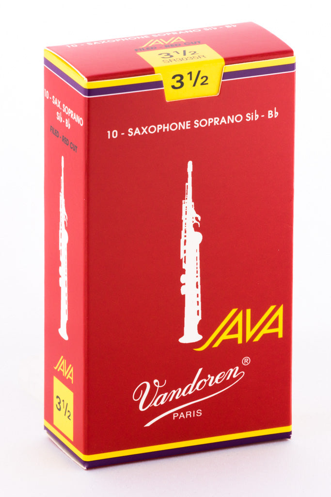 Vandoren JAVA RED Reeds Soprano Saxophone - Box of 10