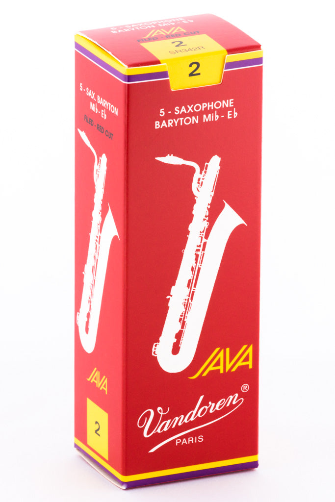 Vandoren JAVA RED Reeds Baritone Saxophone - Box of 5