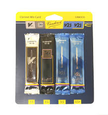 Vandoren Classic Reed Mix Card Bb Clarinet