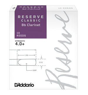 D'Addario Reserve Classic Reeds Bb Clarinet - Box of 10