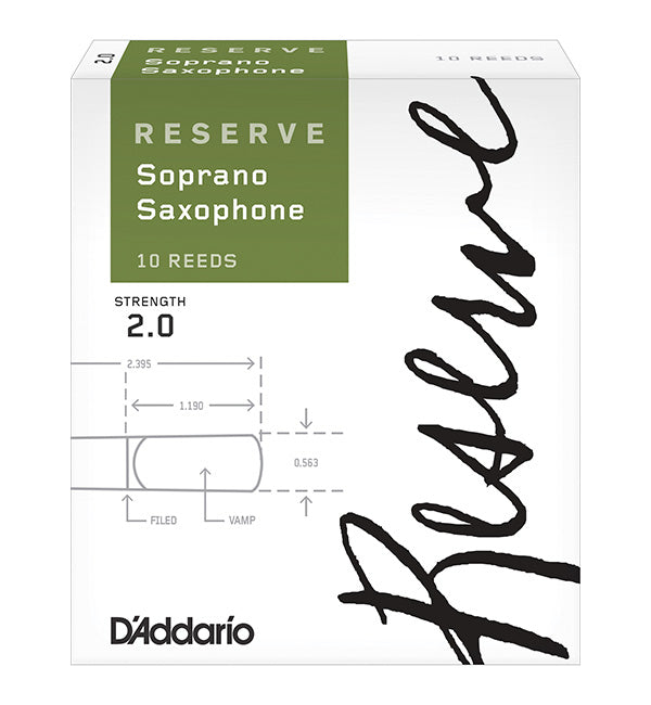 D'Addario Reserve Reeds Soprano Saxophone - Box of 10