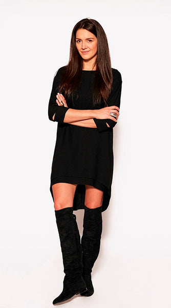 WOVEN DRESS Black