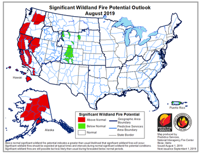 2019 Wildfire Season is Late: Dry Locations at Breaking Point Now