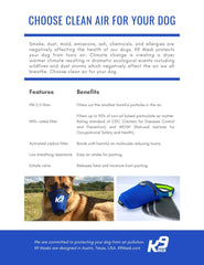 Information about K9 Dog Pollution Air Filter Masks