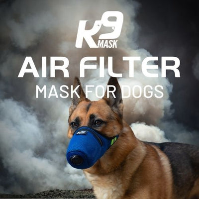 K9 Mask Air Filter for Dogs with N95 Air Pollution Filter for Smoke, Dust, Ash, Chemicals, Pollen, Red Tide, Bacteria, and Smog