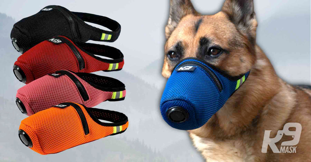 K9 Mask Custom Color Air Filter Face Mask voor honden