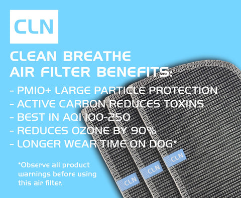 Clean Breathe K9 Mask® with Pm10+ and Active Carbon Air Filters