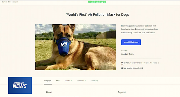 K9 Mask Kickstarter Campaign - Worlds First Air Pollution Masks for Dogs