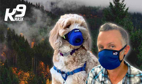 K9 Mask Wildfire Smoke Protection Dog Human Air Filter Ash, Chemicals, Toxins
