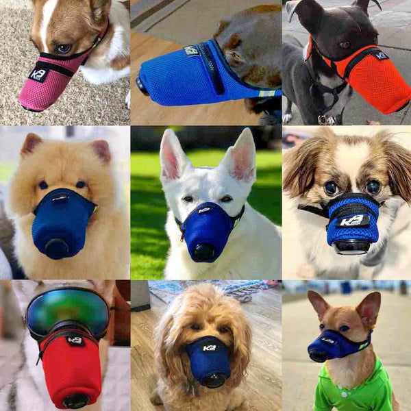 K9 Mask air filter face gas mask for air pollution in smoke, dust, and ash