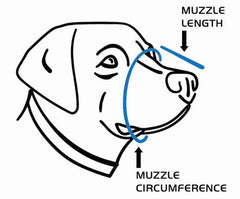 K9 Mask® Fit Guide Chart til størrelse Dog for luftfilter