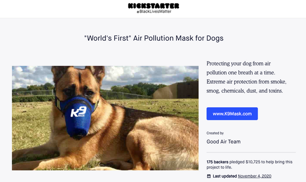 K9 Mask® Dog Face Mask on Kickstarter