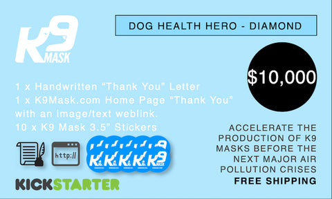 K9 Mask Kickstarter Pledge 10000 $
