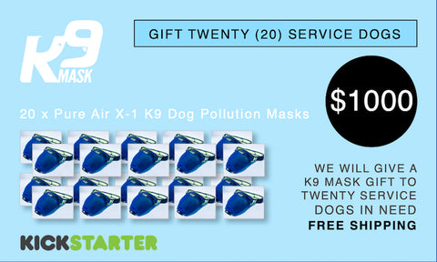 K9 Mask Kickstarter Pledge 1000 $